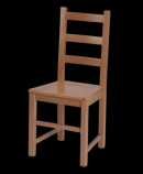 Celodřevěná jídelní židle - Rustica