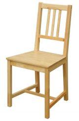 Dřevěná jídelní židle Stela - 869 lak SKLADEM