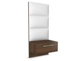 Noční stolek - Amelia, čalouněný panel, vysoký + dárek doprava ZDARMA