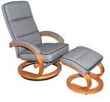 Relaxační křeslo s taburetem - TV-6052