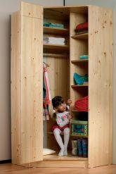 Rohová šatní skříň - Lara č.129