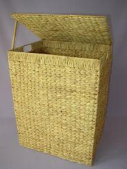 Prádelní koš s víkem vodní hyacint - č.5588