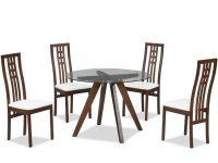 Skleněný kulatý jídelní stůl - BT-6850