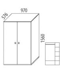 Skříň 2-dvířková - č.D505/S