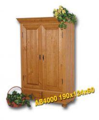 Masivní šatní skříň - AB4000 Louda