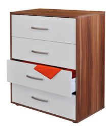 Prádelník zásuvkový - 61502 ořech/bílá