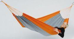 Turistická houpací síť - Silk Traveller Techno (orange-grey)