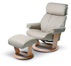 Relaxační polohovací křeslo s podnožkou - GWEN s masážním mechanismem