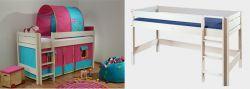 Dětská zvýšená postel - Bella nízká bílá č.B0385