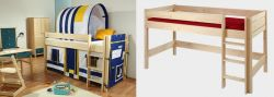Dětská zvýšená postel - Bella nízká přírodní č.B0386