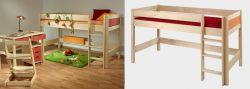 Dětská zvýšená postel - Bella nízká Native č.B0386 (B,C,D,E)