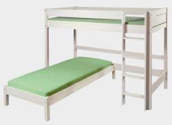 Etážová postel se spaním pro dva - Bella vysoká bílá č.B0387 + Molly č.A0389