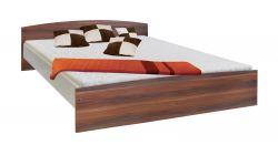 Dvoulůžková postel - 60342 ořech/bílá