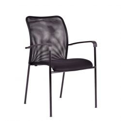 Jednací židle s područkami - Triton Black