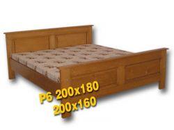 Dvoulůžková postel s vysokým čelem u nohou - P6 Louda