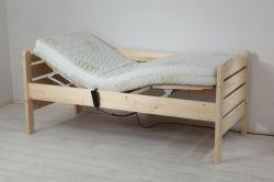 Pečovatelké lůžko s elektrickým roštem a zdravotní matrací - Thorsten komplet SKLADEM