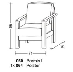 Křeslo - Bormio č.060