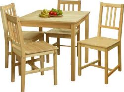 Dřevěný jídelní stůl - 7842 nelak