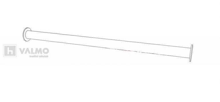 Šatní tyč vpt 50 60 kč šířka 47 3 cm do skříně široké