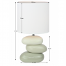 Keramická stolní lampa - Qenny 4